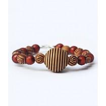 Rhizmall Round Beads Ethnic Vintage Bracelet For Women
