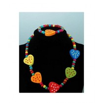 Rhizmall Beads Necklace & Bracelet For Girls - Multi-color