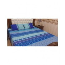 RM Fashion Printed King Size Bed Sheet Blue (0002)