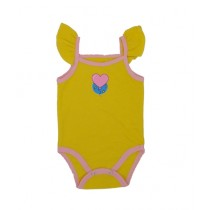 Rompers Top Tank Body Suit For New Born Babies Yellow (0005)