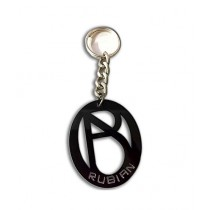 Rubian Acrylic Keychain - Black