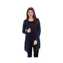 Rubian Cotton Jersey Shrug For Women - Navy Blue