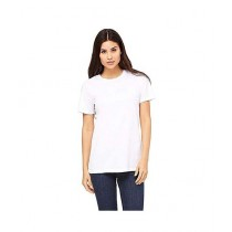 Rubian Cotton Plain T-Shirt For Women - White