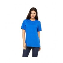 Rubian Cotton Plain T-Shirt For Women Blue