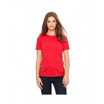 Rubian Cotton Plain T-Shirt For Women Red