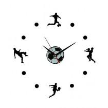 Rubian Football Players Wall Clock - Black