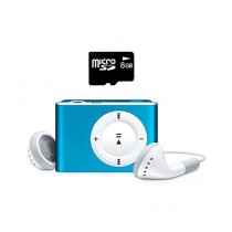 Rubian MP3 Player With 8GB Micro SD And Handfree - Blue