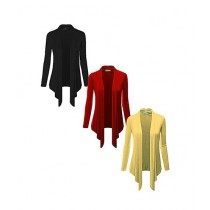 Rubian Pack Of 3 Polyester Shrugs For Women
