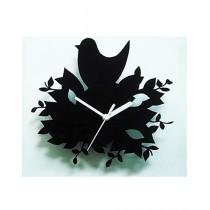 Rubian Sparrow Nest Wall Clock - Black
