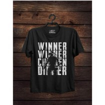 Rubian Store PUBG Round Neck T-Shirt For Unisex Black