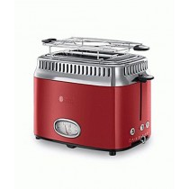 Russell Hobbs Retro Ribbon 2 Slice Toaster Red (21680-56)