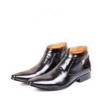 Sage Leather Formal Shoes For Men Black (5738)