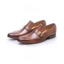 Sage Leather Formal Shoes For Men Mustard (1626)