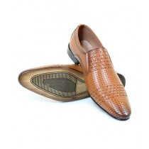 Sage Synthetic Leather Formal Shoes For Men Mustard (230180)