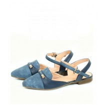 Sage Leather Sandal For Women Blue (800160)