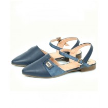 Sage Leather Sandal For Women Blue (800161)