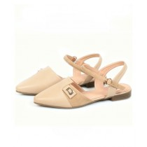 Sage Leather Sandal For Women Fawn (800161)