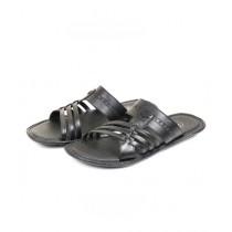 Sage Leather Slipper For Men Black (3366)
