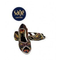 Sage Leather Khusa For Women Multicolor (8876)
