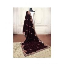 Sajeela Pk Embroidered Velvet Shawl For Women (0009)
