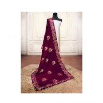Sajeela Pk Embroidered Velvet Shawl For Women (0013)