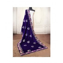 Sajeela Pk Embroidered Velvet Shawl For Women (0014)