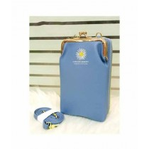 Sale Out 2 in 1 Mobile Clutch For Women Blue