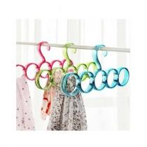 Sale Out 5 Rings Plastic Hanger Multi Color