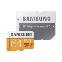 Samsung 64GB EVO UHS-I microSDXC Class 10 Memory Card with SD Adapter