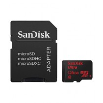 SanDisk 128GB Ultra microSDXC Class 10 Memory Card with SD Adapter