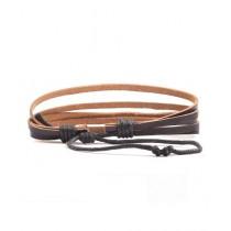 Sapphera Riped Vintage Leather Bracelet For Men Black