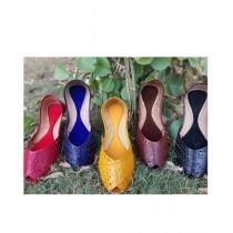 Saqaafatt Khussa Leather Cutwork For Women