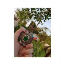 Saqaafatt Ladies pendant Green