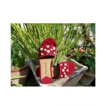 Saqaafatt Ladies slippers Red (RD-01)