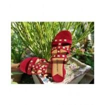 Saqaafatt Ladies slippers Red (RD-02)