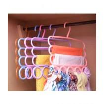Sasti Market 2 IN 1 5 Rings 3 Layers Hanger