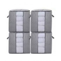 Sasti Market Foldable Clothes Organizer Box - Large (Pack Of 4)