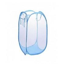 Sasti Market Foldable Laundry Basket Blue