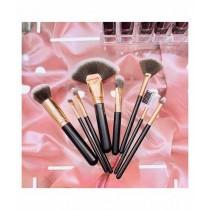 Sasti Market Nine 9 Beauty Makeup Brush Black 8 Pcs