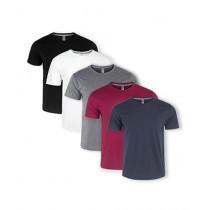 SB Store Plain Round Neck T-Shirt Pack Of 5 (0001)