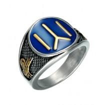 Scenic Accessories Eartugul Oriented Kayi Men Ring Blue
