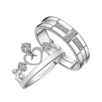Scenic Accessories 925 Sterling Silver Couple Rings