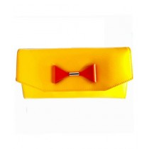 Senupra Stylish Clutch Bag For Women Yellow