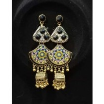 Shaz Jewels Printed Design Jhumka (0009)