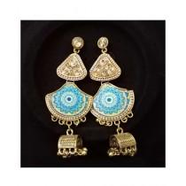 Shaz Jewels Printed Design Jhumka (0010)