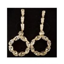 Shaz Jewels Zircon Earrings For Women White