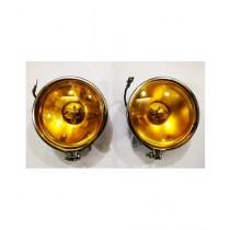 Sheikh Enterprise Yellow H3 Halogen Fog Lamp Set For Jeeps & Cars