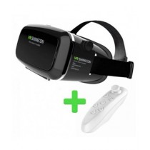 M.Mart Shinecon Virtual Reality 3D Glasses With Bluetooth Remote