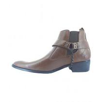 Shoe Club Formal Long Boot For Men Brown