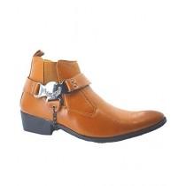 Shoe Club Formal Long Boot For Men Mustard